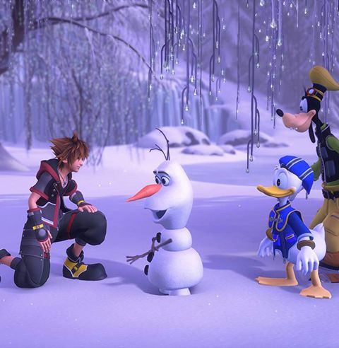 Snow, Winter, Cartoon, Action figure, Tree, Ice, Fictional character, Animated cartoon, Winter storm, Snowman,