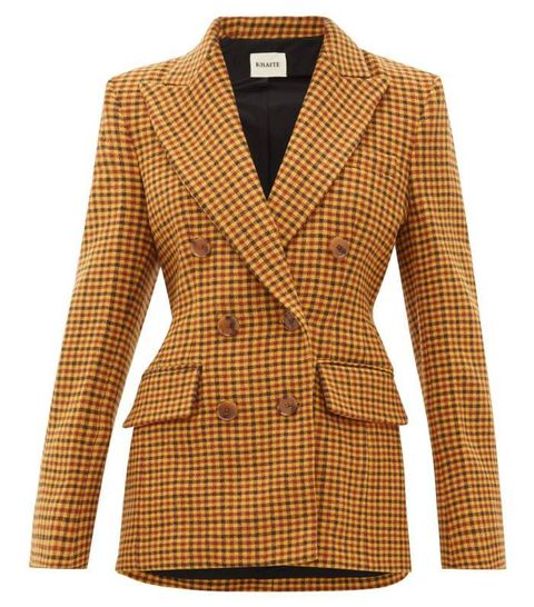 Clothing, Outerwear, Blazer, Jacket, Beige, Sleeve, Brown, Collar, Coat, Top,