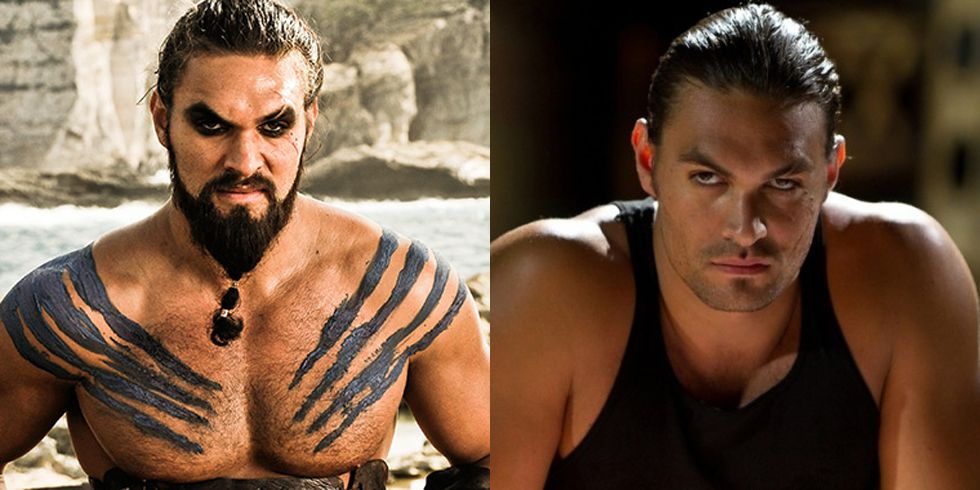 Jason Momoa Fans of the hunky Momoa will be glad to know he isn't having any trouble finding work. He followed up his time as Khal Drogo with a role in the action/thriller film Bullet to the Head .