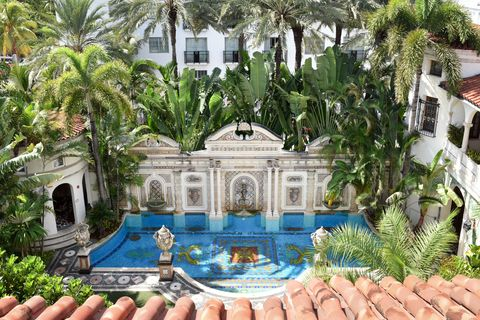 the villa casa casuarina at the former versace mansion, miami beach, florida