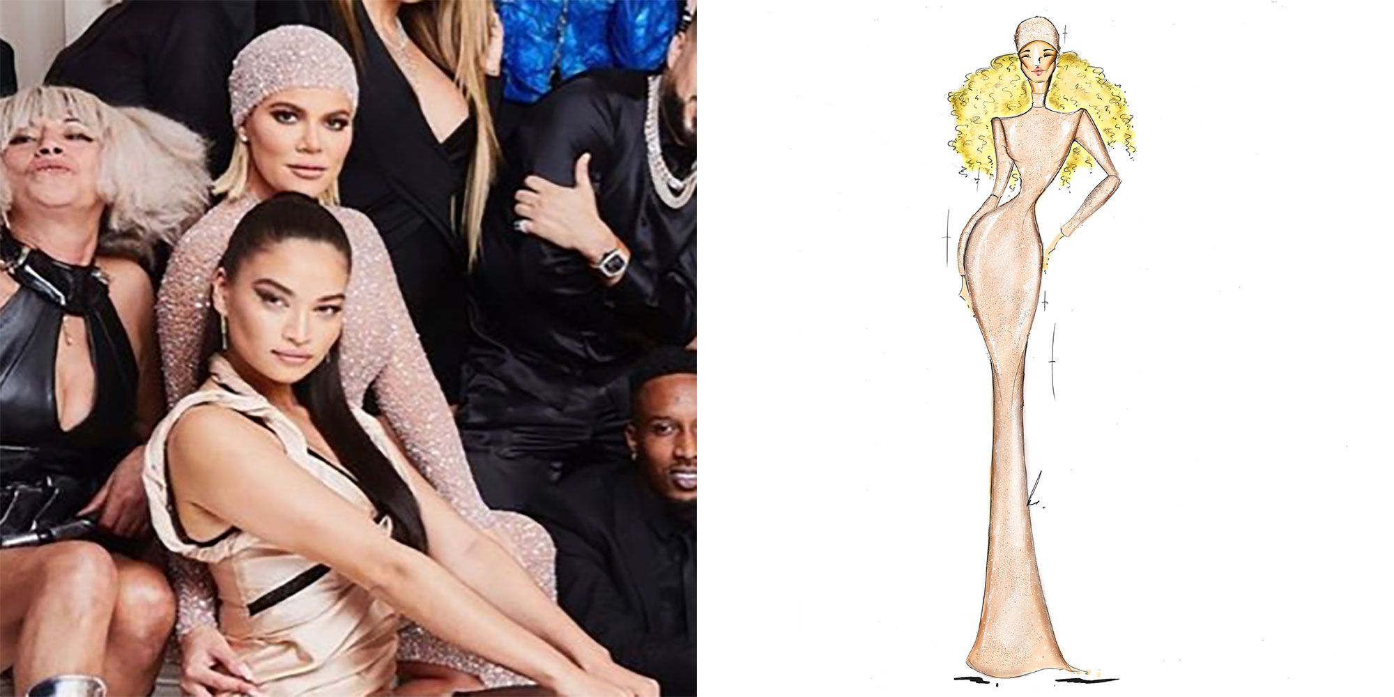 How Khloé Kardashian Helped Create the Crystal-Adorned $6,500 Yousef Al-Jasmi Gown She Wore to Kourtney's 40th Birthday Party