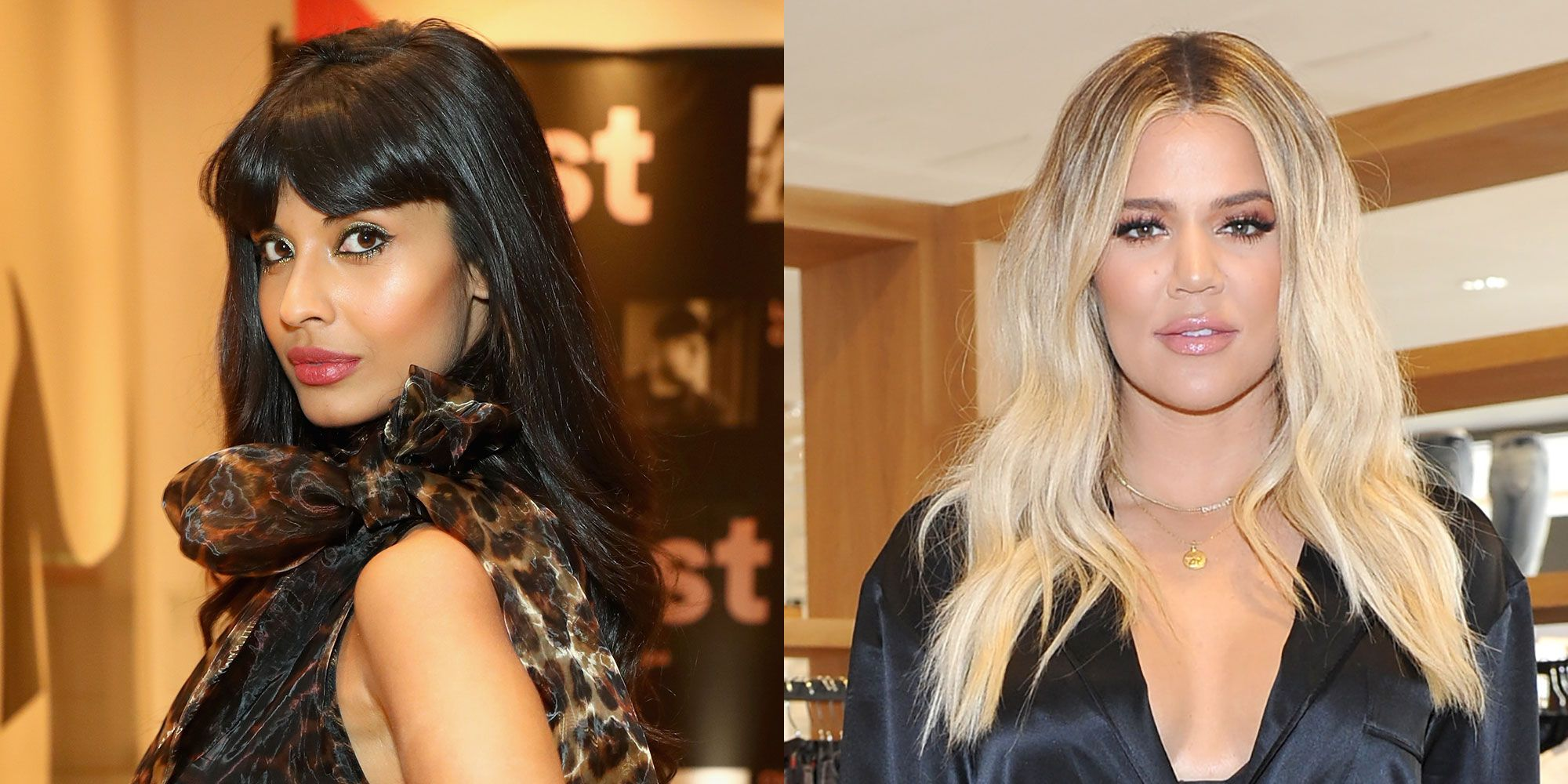 Jameela Jamil and Khloe Kardashian