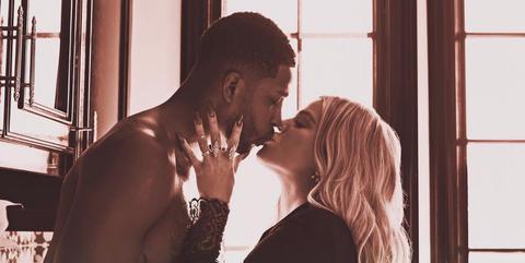 khloe kardashian kissing tristan