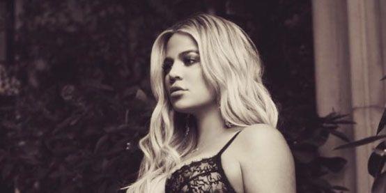 Khloe Kardashian pregnant lingerie