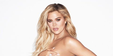 5041244b8db86 Khloé Kardashian Poses Topless for New Good American Maternity Wear Campaign