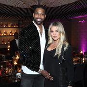 los angeles, ca   february 17  tristan thompson and khloe kardashian attend the klutch sports group more than a game dinner presented by remy martin at beauty  essex on february 17, 2018 in los angeles, california  photo by jerritt clarkgetty images for klutch sports group