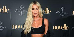 Khloe Kardashian en la alfombra roja del Novelle