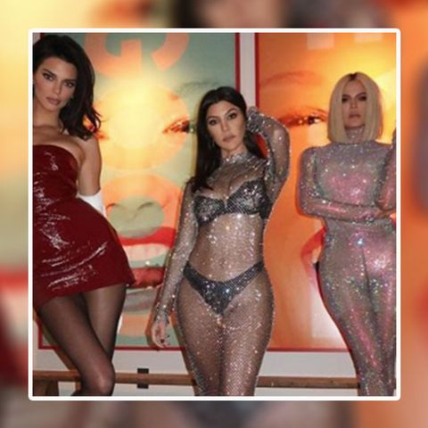 f3264014 Khloe Kardashian's sparkly naked bodysuit is the ultimate revenge outfit