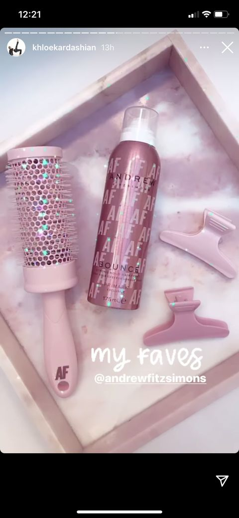 khloe kardashian andrew fitzsimons hair products primark