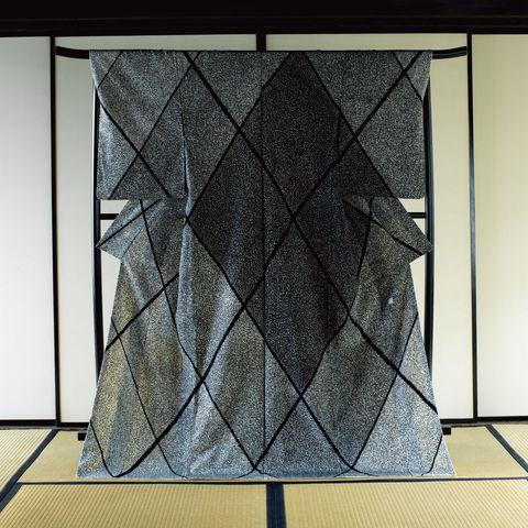樋口可南子さんが着る森口邦彦さんの着物