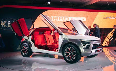 Land vehicle, Vehicle, Car, Auto show, Automotive design, Alloy wheel, Sport utility vehicle, Concept car, Exhibition, Range rover,