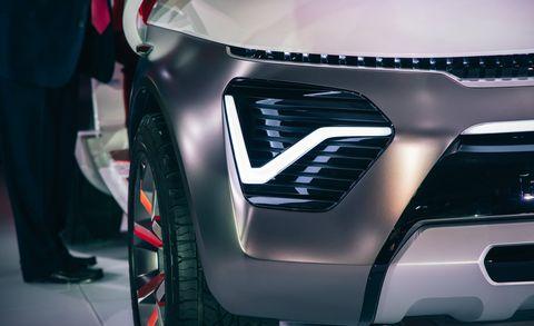 Vehicle, Automotive design, Car, Auto show, Concept car, Automotive lighting, Automotive exterior, Grille, Compact car, Family car,