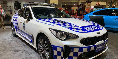 Kia Stinger Australian police car