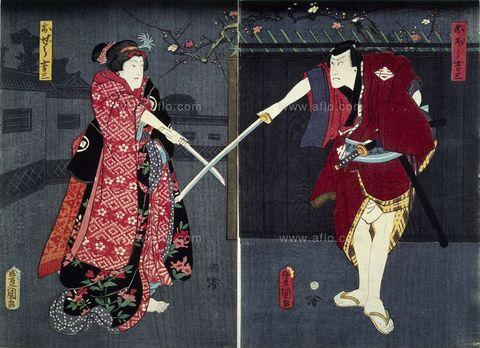 三代歌川豊国歌川国貞 「三人吉三」