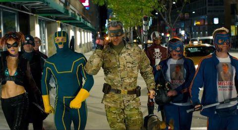 Jim Carrey, al mando de los superhéroes de 'Kick-Ass 2: Con un par'