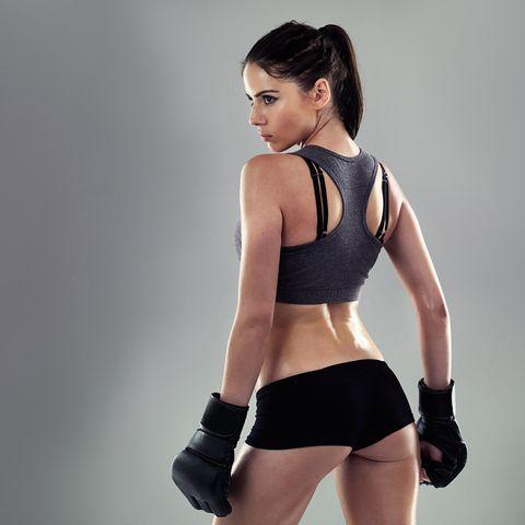 Kickboxing keeps her in shape