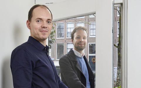 jeroen van oorschot links and pierre van den oord, oprichters loqed, amsterdam, 14 1 2021