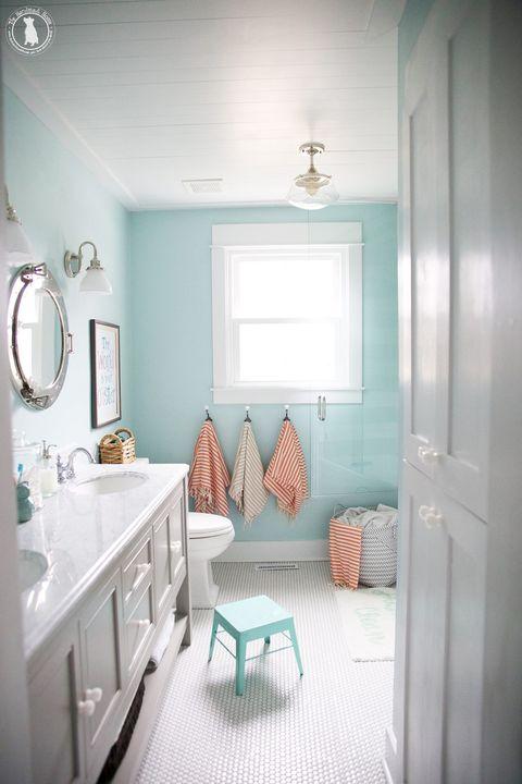 kids bathroom light blue