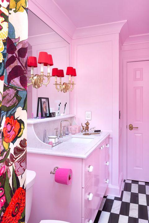 kids bathrooms pink