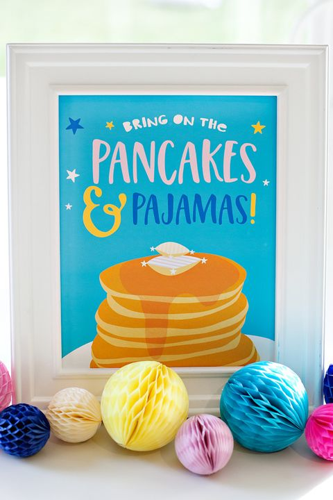 kids birthday party ideas themes pancakes and pajamas