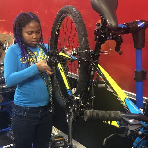 Kids Building Bikes