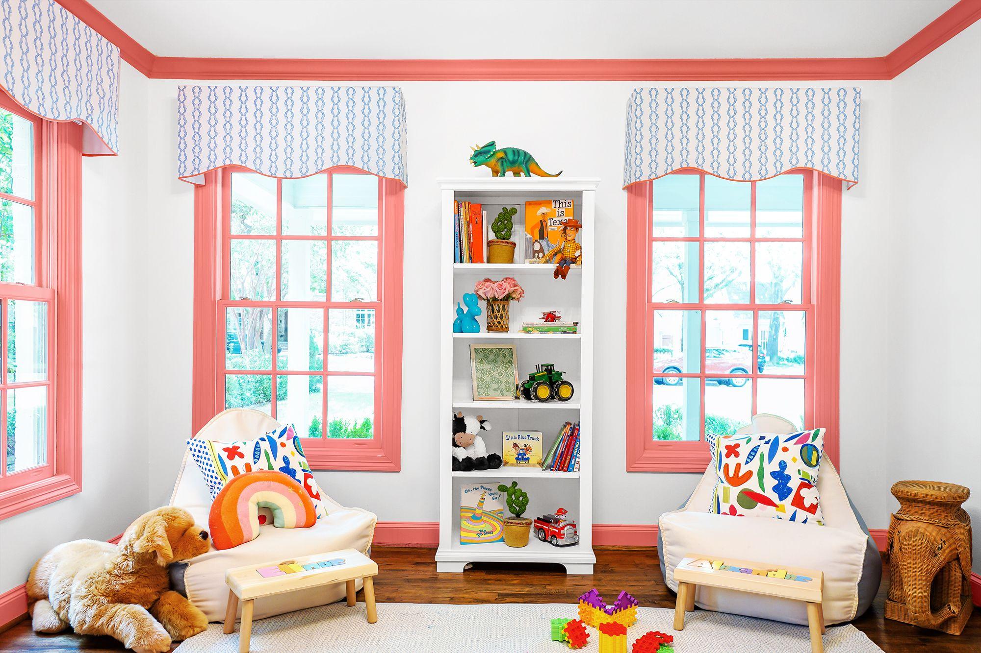 Sweet Dreams Neutral Bedroom Nursery Window Valance Pink Floral Kidsline Green