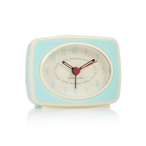 kikkerland retro wekker blauw klok
