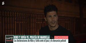 Kiko Jiménez, Sofía Suescun, Kiko Sofía altercado policía, Kiko y Sofía, Kiko Jiménez detenido