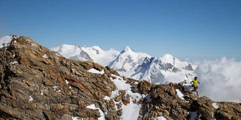 Kilian Jornet Running Through Mountains