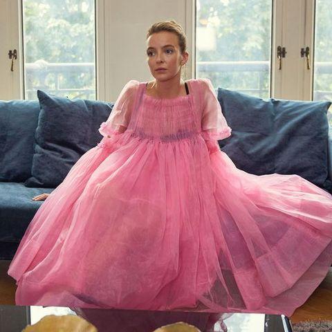 killing eve villanelle pink dress