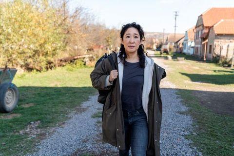Sandra Oh interpreta a Eve Polastri en la serie de HBO Killing Eve. Aquí aparece en un fotograma de la temporada 3 de la serie.