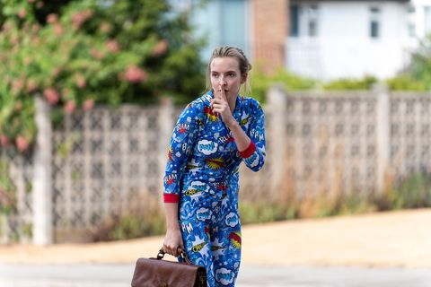 villanelle killing eve cartoon pajamas
