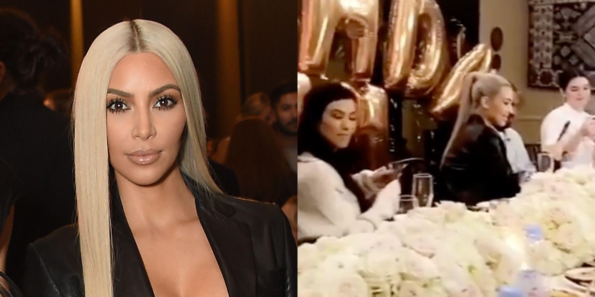 Kim Kardashians 37th Birthday Dinner Kim Kardashian Birthday Cake