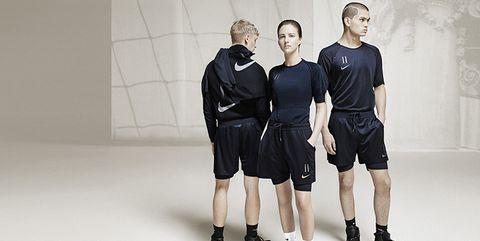 Standing, Shoulder, Sportswear, Fashion, Joint, Shorts, Footwear, Uniform, Photography, T-shirt,