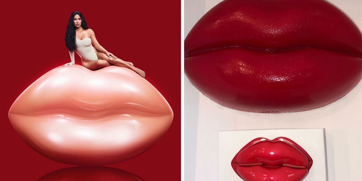 Kim Kardashian Made Huge Edible Candy Lips Out For Kylie