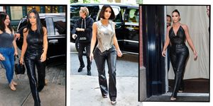 Kim Kardashian 90s New York Fashion Week Style