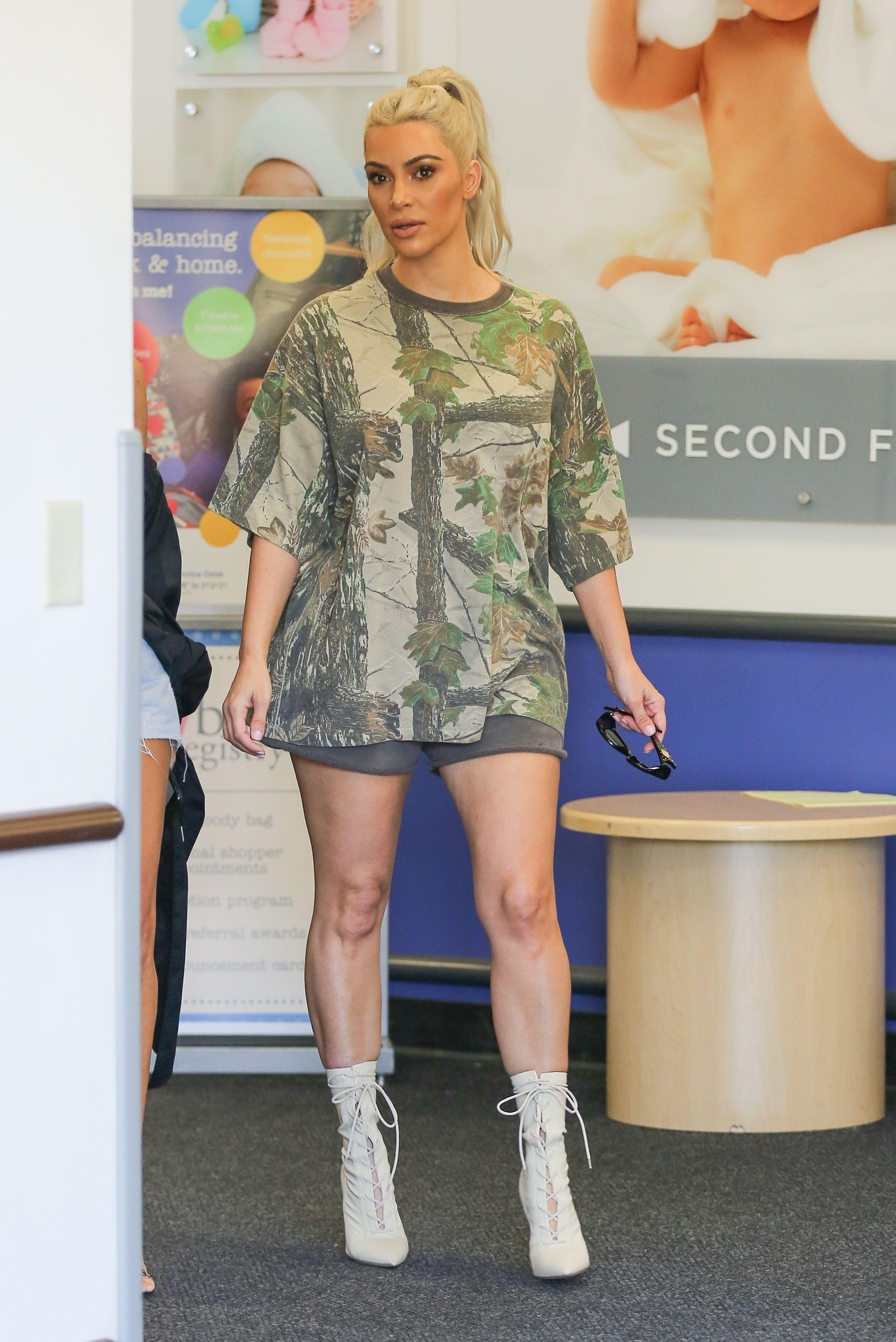 Kim And Kourtney Kardashian Do Their Baby Shopping In Short Shorts