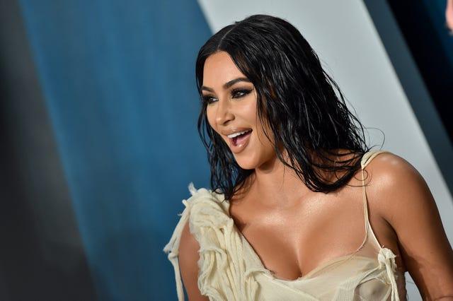 kim kardashian vanity fair oscar party 2020