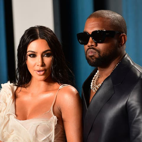 Kim Kardashian & Kanye West Attend Vanity Fair Oscars After-Party