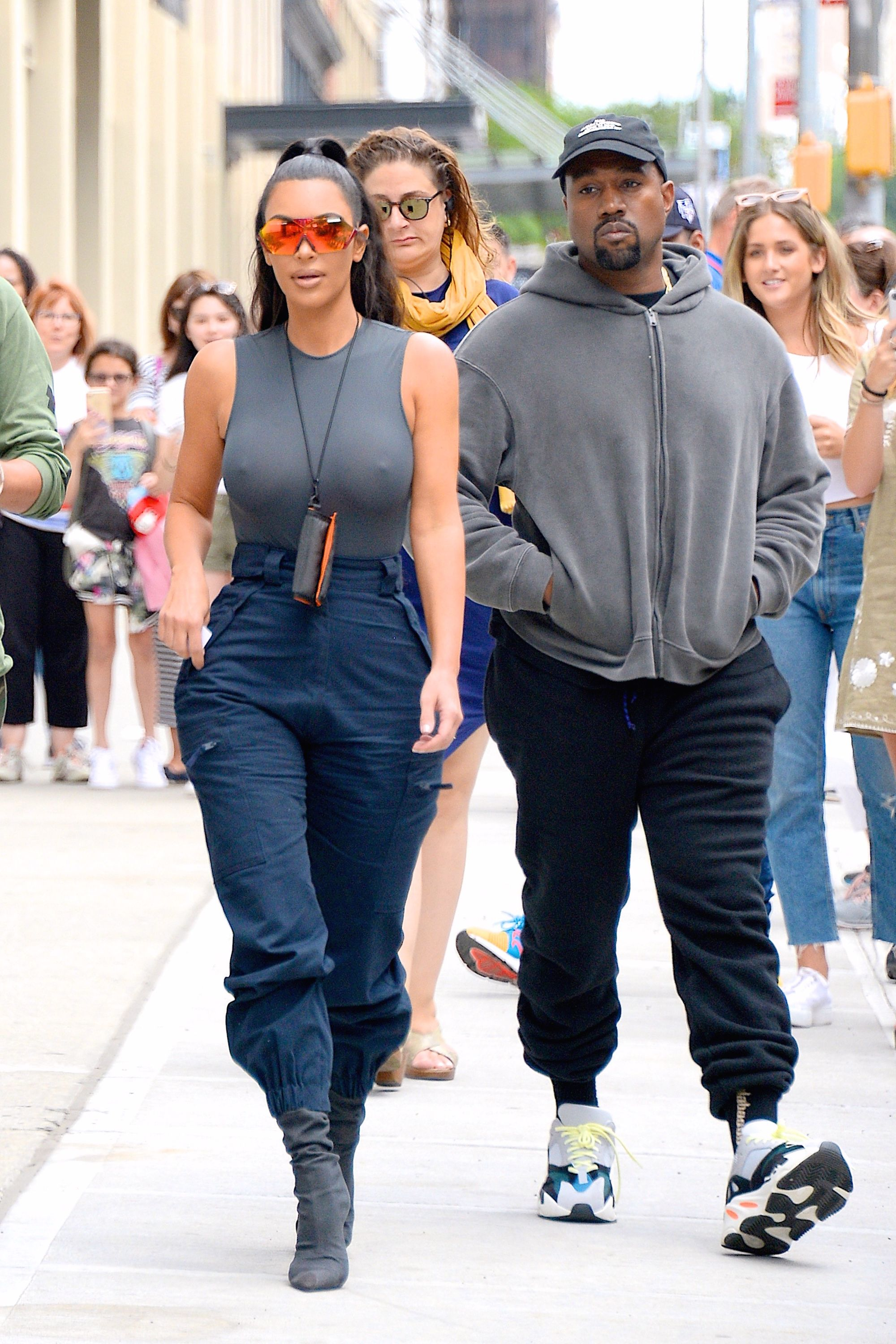 90c7d48ef50 Kim Kardashian Says Kanye West Is 'Harassing' Her to Have 7 Kids, Wants  More Babies