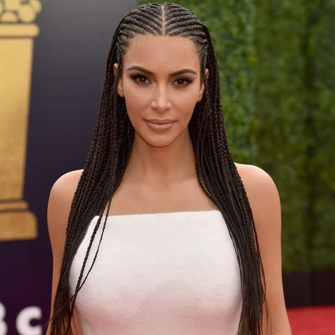 Kim Kardashian Shares a Throwback Photo of Crimped Hair to Justify ...