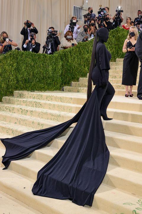 kim kardashian at the 2021 met gala celebrating in america a lexicon of fashion