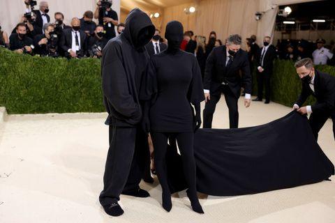 kim kardashian the 2021 met gala celebrating in america a lexicon of fashion arrivals
