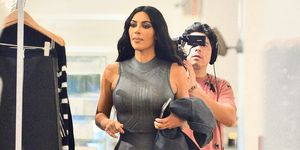 kim kardashian catsuit new york filming keeping up with the kardashians