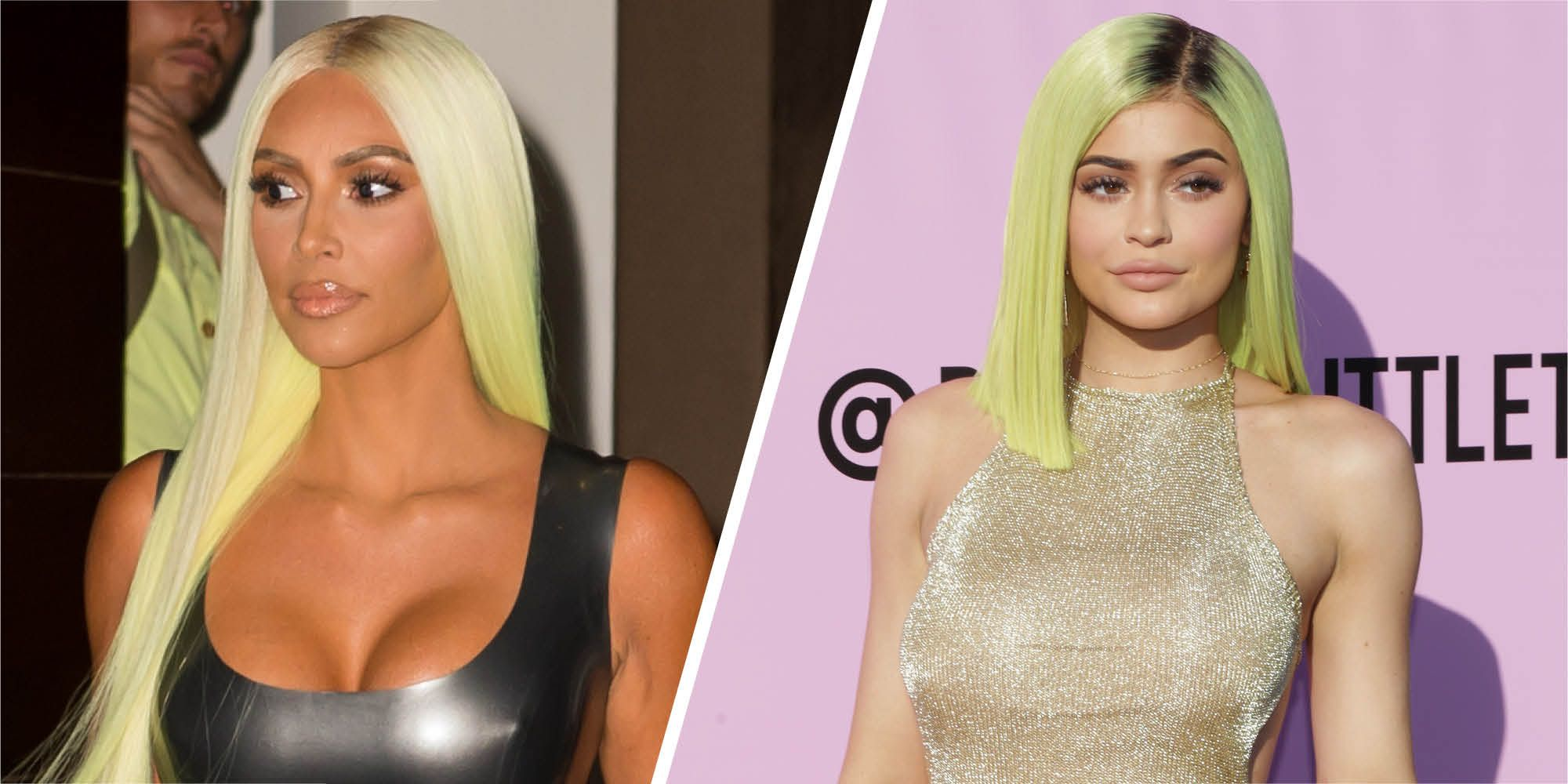 kim kardashian kylie jenner green wig