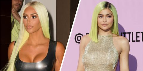 Kim Kardashian Neon Green Wig - Did Kim Kardashian Just Copy ... 8c934a9b71a6
