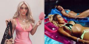 Kim Kardashian verkleed als Legally Blonde's Elle Woods voor Halloween