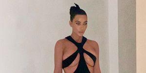 Kim Kardashian con vestido vintage de Mugler