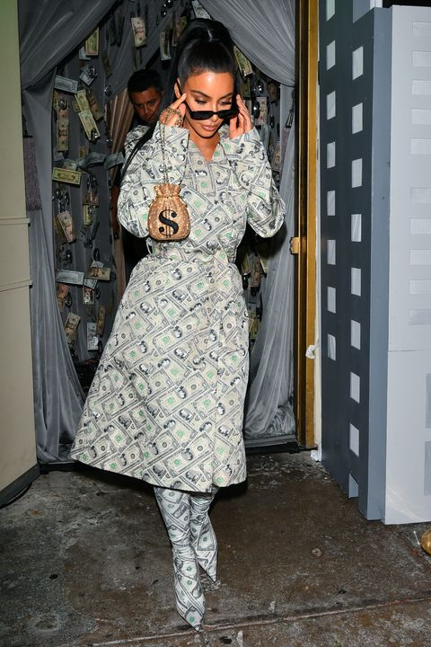 Kim Kardashian Wears Money Outfit To Anastasia Beverly Hills Party