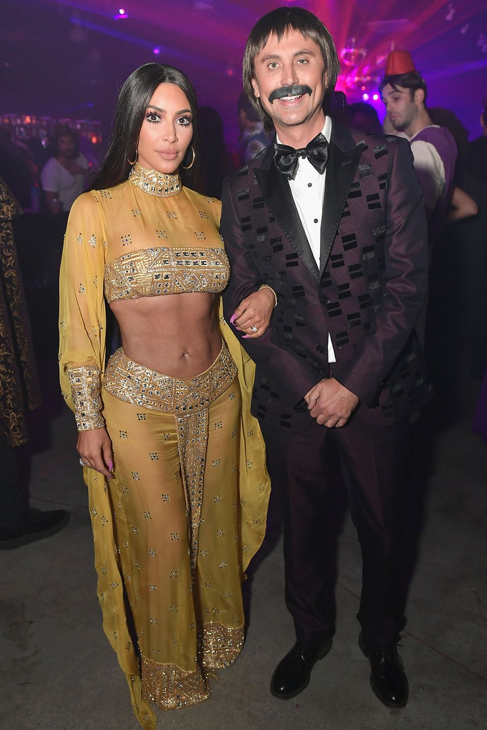 Kim Kardashian and Jonathan Cheban - Sunny and Cher Kim Kardashian and bestie Jonathan Cheban dressed up as Sunny and Cher in 2017 for the Casamigos Halloween party.